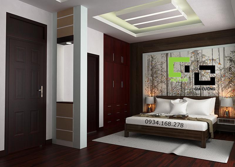 Thiết kế nội thất phòng ngủ cho nhà Anh Cương ở Gò Vấp