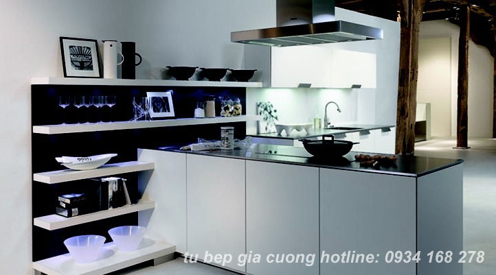 Tủ bếp Acrylic PARC 01 + 04