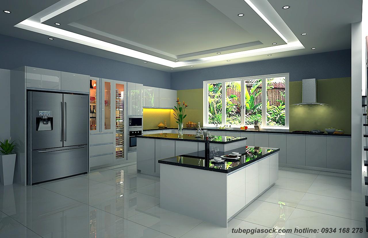 Tủ bếp Acrylic EARC11 chống trầy 6H