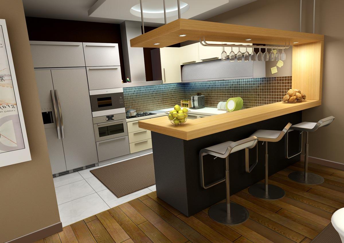 Tủ bếp gỗ công nghiệp, quầy bar gỗ tự nhiên