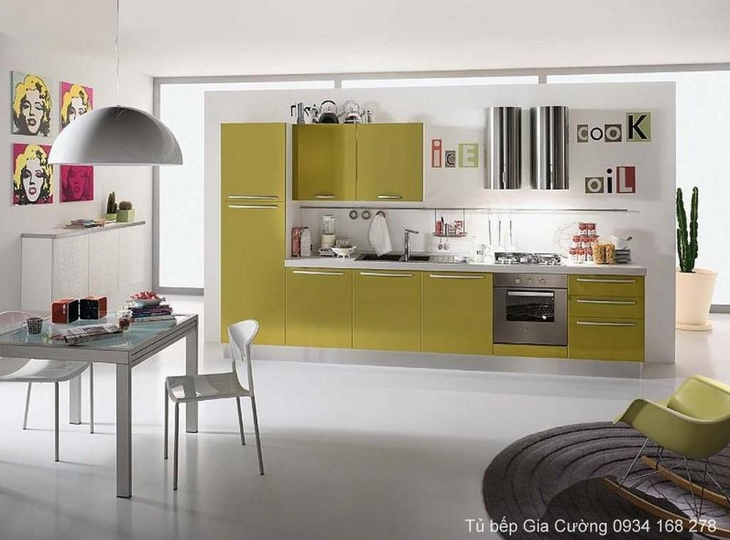 Tủ bếp chữ I Acrylic PARC 06
