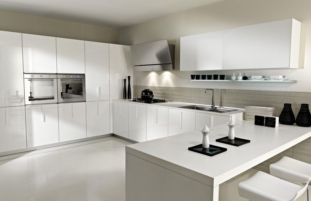 Tủ bếp chữ L Acrylic 11