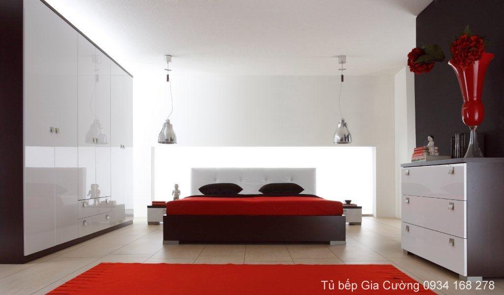 Tủ áo, Giường ngủ Acrylic PARC 01 + MFC 23024