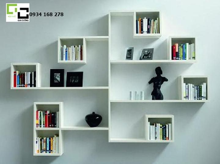 Kệ sách treo tường hiện đại mẫu 02
