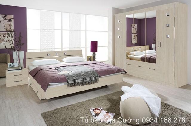 Nội thất phòng ngủ màu sắt êm dịu