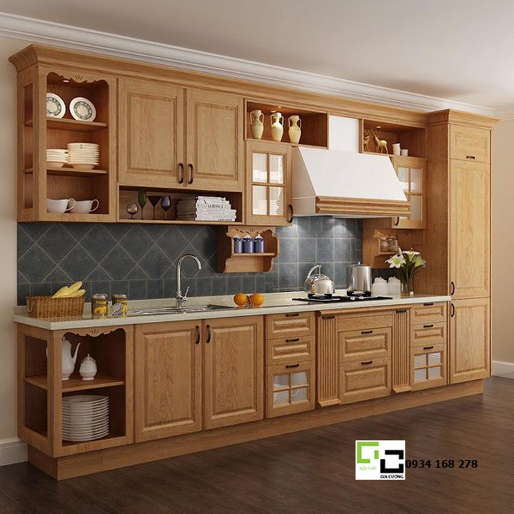 Tủ bếp gỗ xoan đào 02