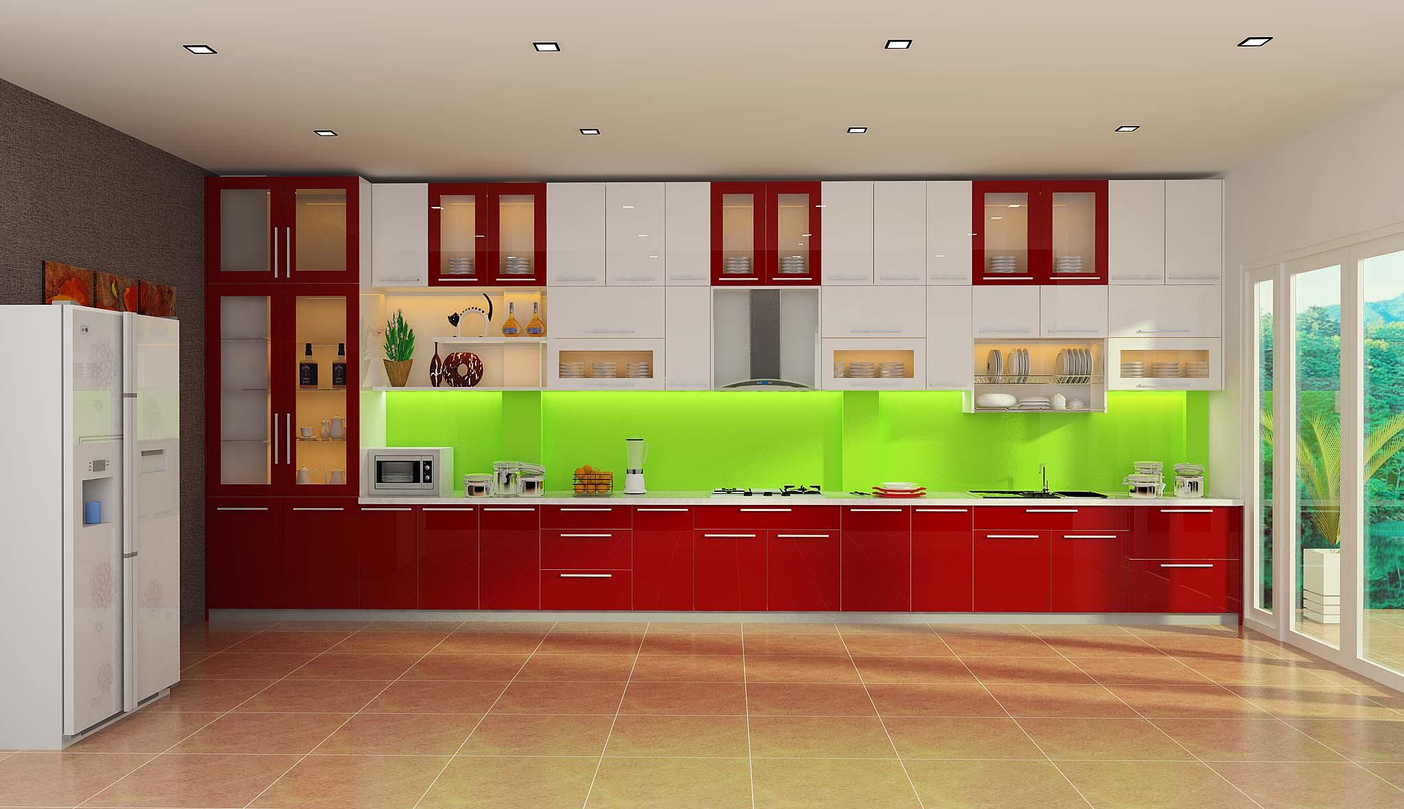 Tủ bếp Acrylic EARC 14 + EARC11