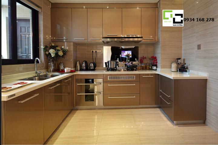 Tủ bếp acrylic hiện đại PARC 05