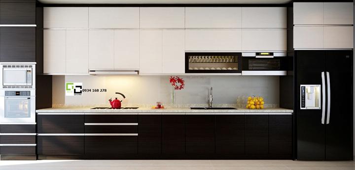 Tủ bếp acrylic hiện đại 05