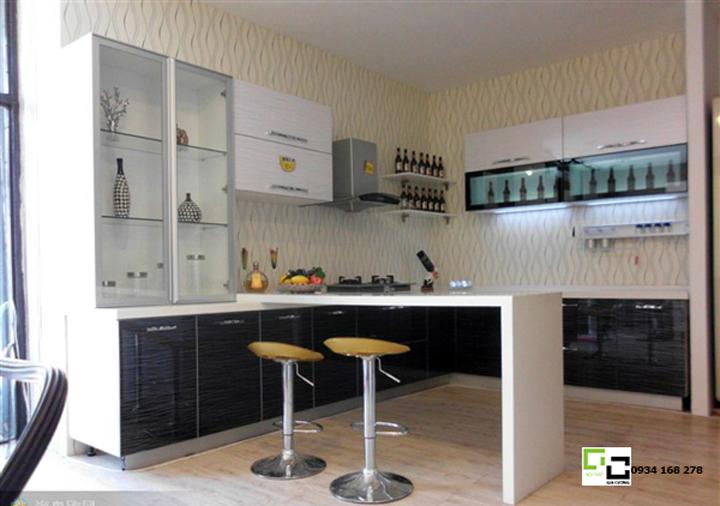 Tủ bếp acrylic hiện đại 09