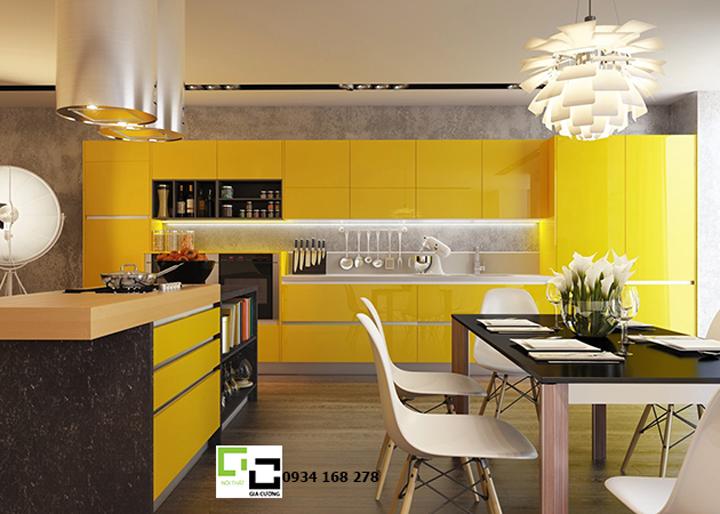 Tủ bếp acrylic hiện đại 12