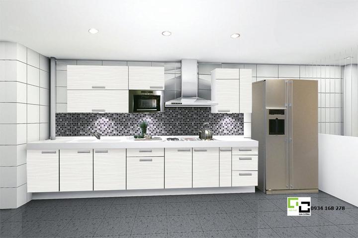 Tủ bếp acrylic hiện đại 14