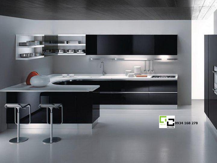 Tủ bếp acrylic hiện đại 15