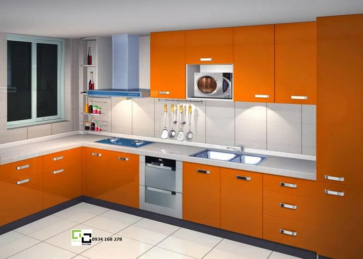 Tủ bếp acrylic hiện đại 19