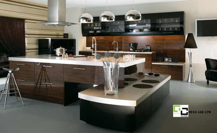 Tủ bếp acrylic hiện đại 23