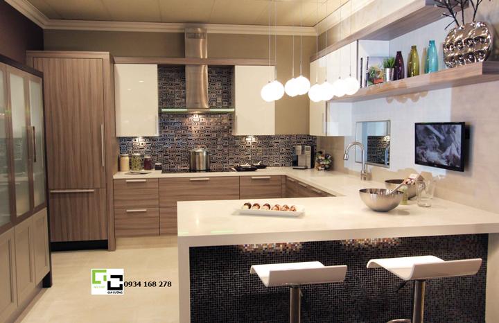 Tủ bếp acrylic hiện đại 34