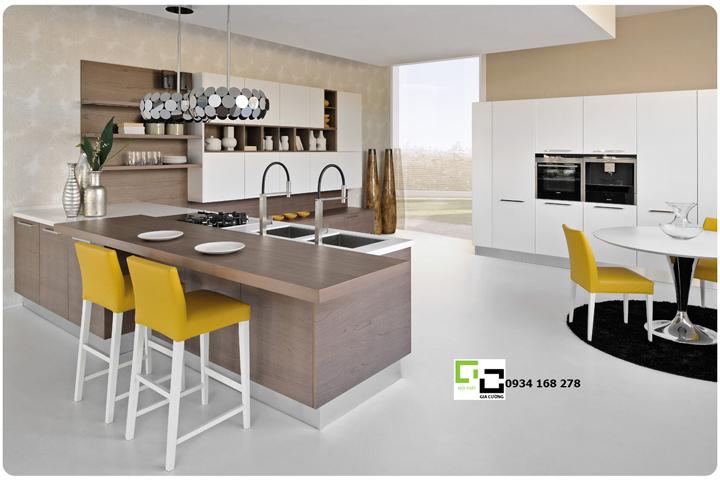 Tủ bếp acrylic hiện đại 36