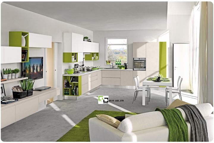 Tủ bếp acrylic hiện đại 37