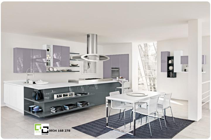 Tủ bếp acrylic hiện đại 38