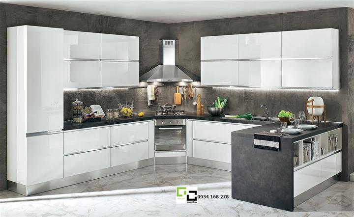 Tủ bếp acrylic hiện đại 40