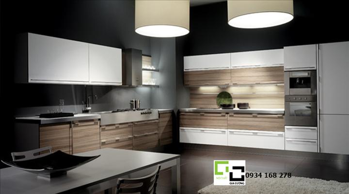 Tủ bếp laminate hiện đại