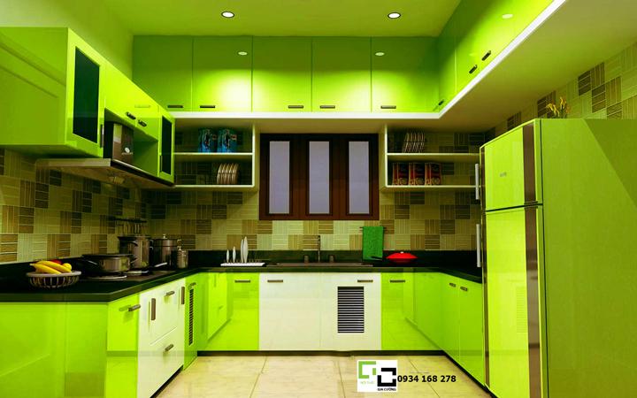 Tủ bếp acrylic hiện đại 43