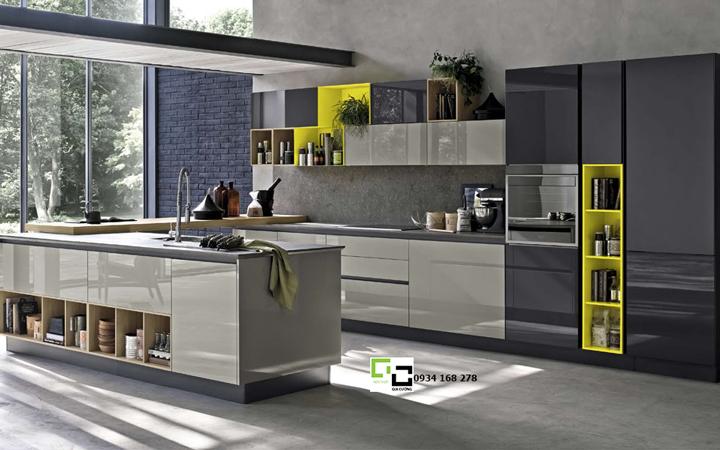Tủ bếp acrylic hiện đại 47