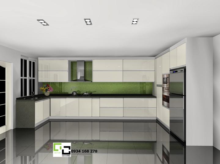 Tủ bếp acrylic hiện đại 50