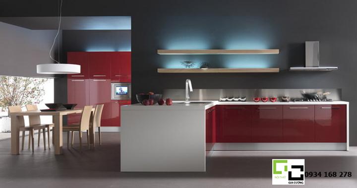 Tủ bếp acrylic hiện đại 52