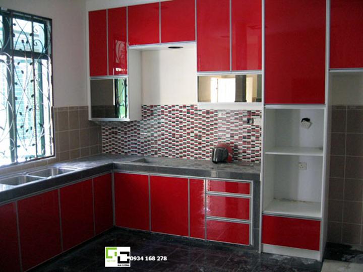 Tủ bếp acrylic hiện đại 54
