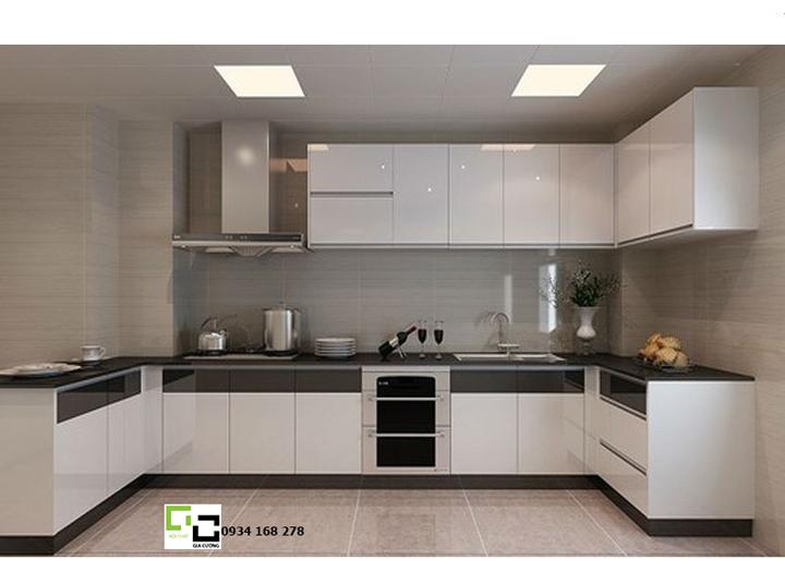 Tủ bếp acrylic hiện đại 55