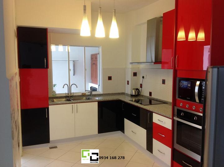 Tủ bếp acrylic hiện đại 61