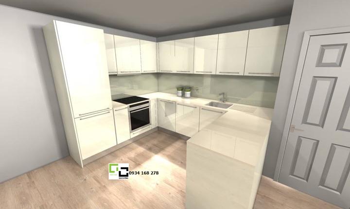 Tủ bếp acrylic hiện đại 63