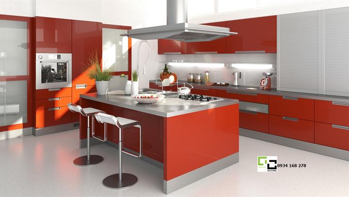 Tủ bếp acrylic hiện đại 66