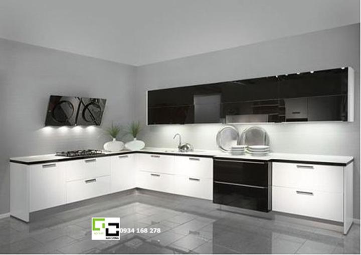 Tủ bếp Acrylic cho phòng bếp lớn