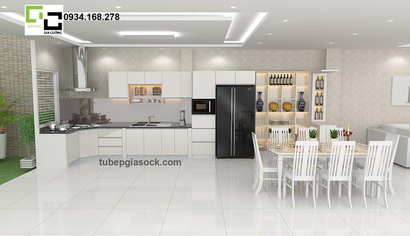 Tủ bếp Acrylic cổ điển PARC 28