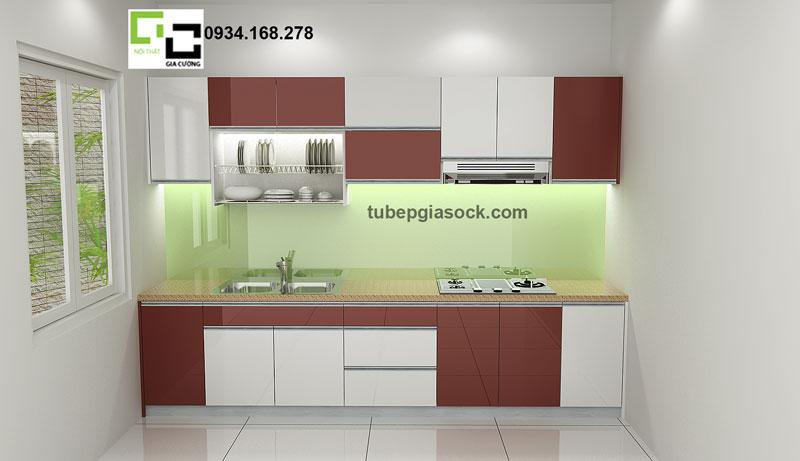 Phối cảnh tủ bếp Acrylic PARC 01 + 04