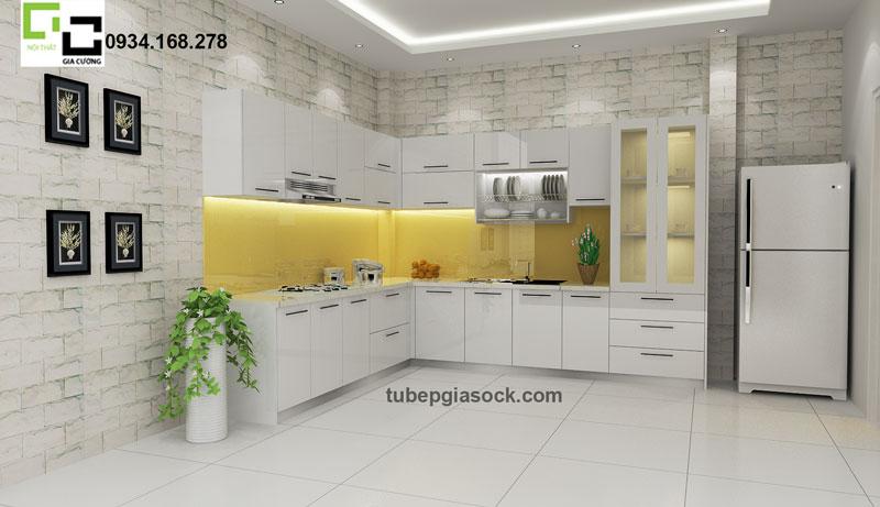 Tủ bếp Acrylic mã màu PARC 11 sang trọng