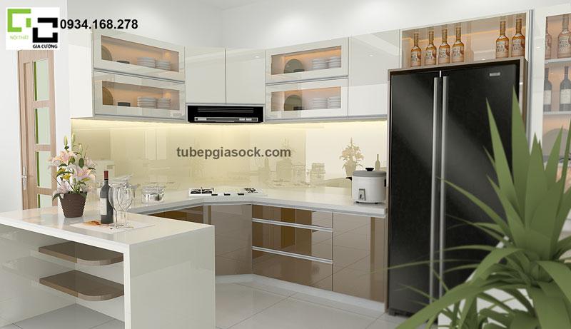 Tủ bếp Acrylic chữ u PARC 11 + 05