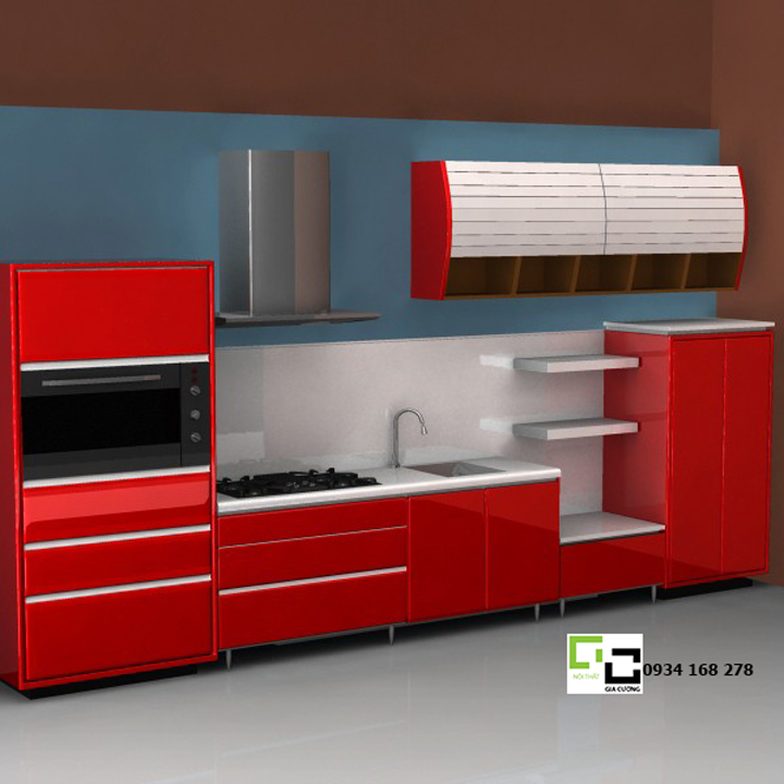 Tủ bếp chữ i 10