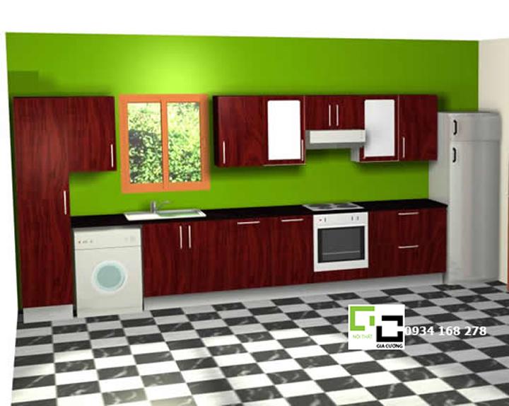 Tủ bếp chữ i 28