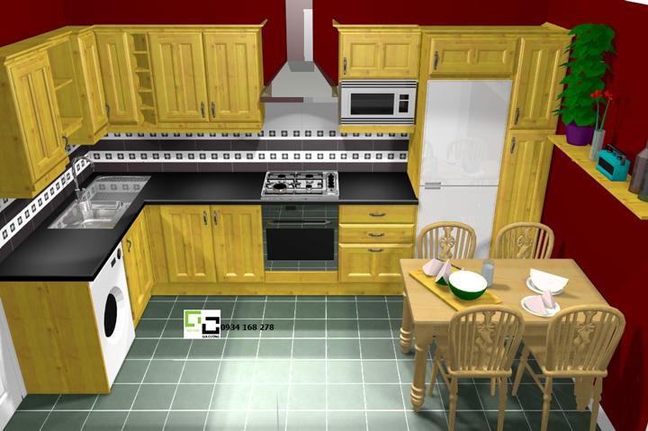 Tủ bếp chữ L 03
