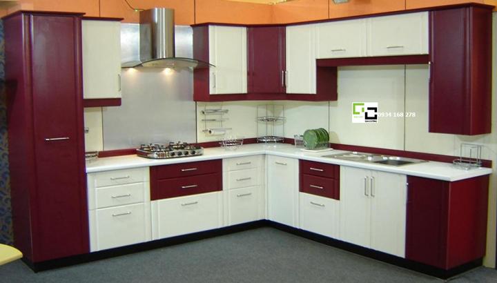 Tủ bếp chữ L 06