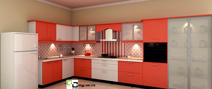 Tủ bếp chữ L 23