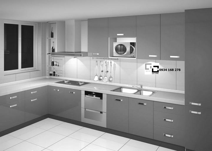 Tủ bếp chữ L 29