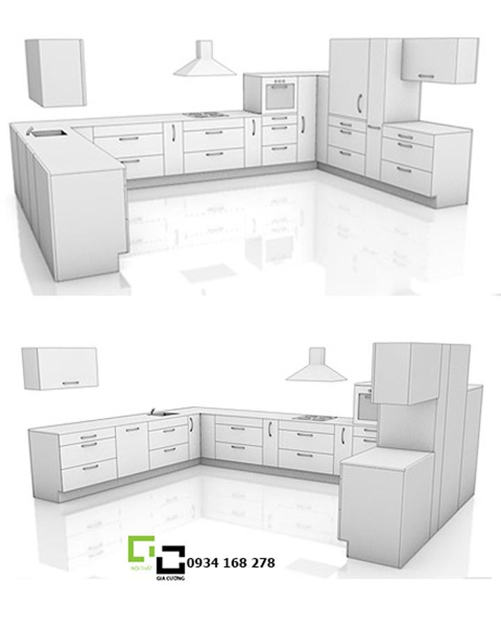Tủ bếp chữ U 02