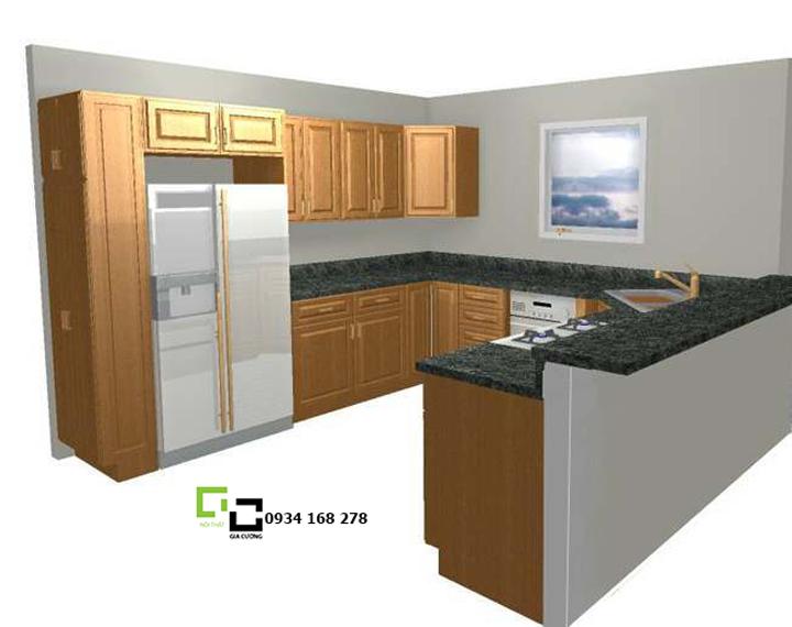 Tủ bếp chữ U 03