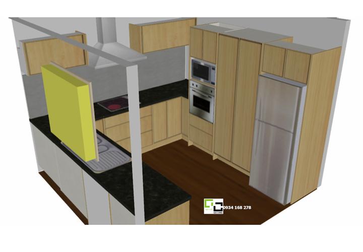 Tủ bếp chữ U 06