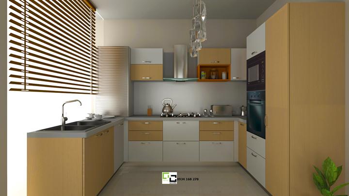 Tủ bếp chữ U 22