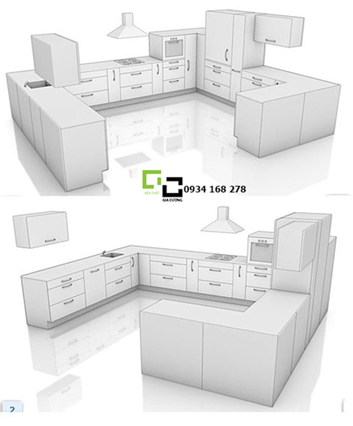 Tủ bếp chữ U 23